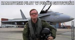 Kanadyjski pilot w pełnej gotowości