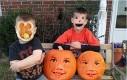 Halloweenowa zamiana twarzy