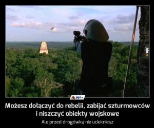 Możesz dołączyć do rebelii, zabijać szturmowców i niszczyć obiekty wojskowe