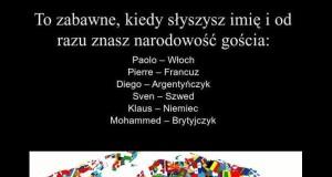 Typowe imiona w różnych krajach