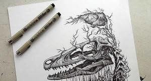 Niepokojące ilustracje w świetnym stylu