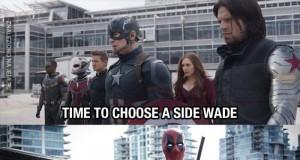 Czas wybrać stronę, Deadpool!