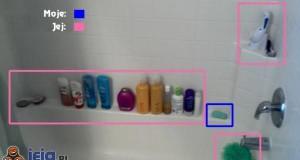 Podział sił w łazience