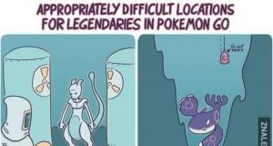 Gdzie będą umieszczone Legendarne Pokemony w Pokemon GO