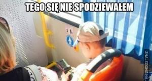 Zaskoczenie w autobusie