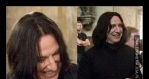 Tak wygląda, uśmiechający się Snape