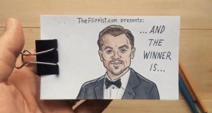 Leonardo Di Caprio na rozdaniu Oscarów
