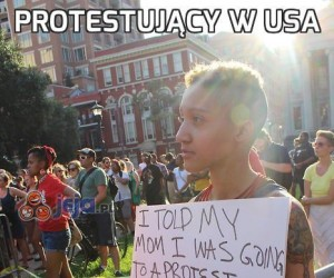 Protestujący w USA