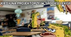 Kiedy na projektorze w środku lekcji