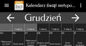 Grudniowy kalendarz