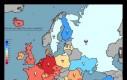 Mapka przedstawia % ankietowanych, którzy walczyliby za swój kraj