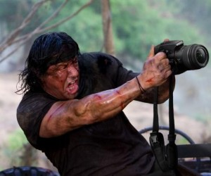 Ekstremalny fotograf w akcji