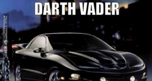 Postacie z Gwiezdnych Wojen jako auta