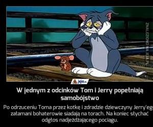 W jednym z odcinków Tom i Jerry popełniają samobójstwo