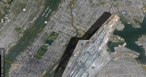 Super Star Destroyer na tle Manhattanu