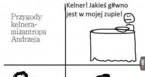 Kelner-mizantrop Andrzej