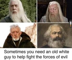 Stary, białowłosy koleś