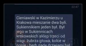 Kolega z USA chciał mnie zaskoczyć i napisał coś po polsku