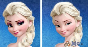 Elsa bez makijażu