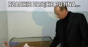 Rzadkie zdjęcie Putina...