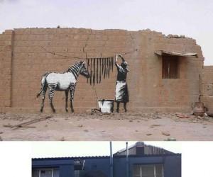 Artystyczne graffiti na ścianie