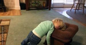 Dzieci mogą zasnąć gdziekolwiek