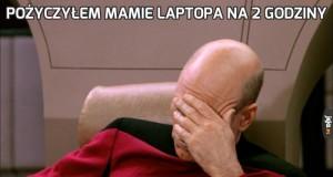 Pożyczyłem mamie laptopa na 2 godziny