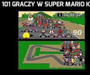 101 graczy w Super Mario Kart