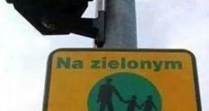 Na zielonym dajesz przykład dzieciom