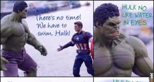Hulk jest jak ja na basenie