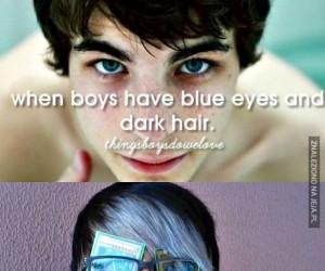 Kiedy bruneci mają niebieskie oczy...