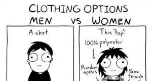 Ubieranie się: chłopak vs dziewczyna