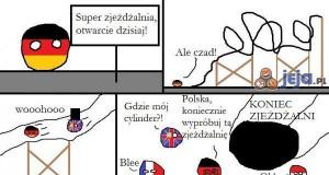 Polandball i super zjeżdżalnia