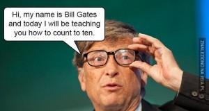 Bill Gates uczy liczyć do 10