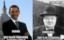 Obama vs Churchill