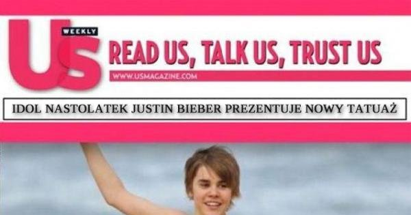 Nowy Tatuaż Justina Biebera Jejapl