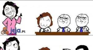 Tymczasem w szkole...
