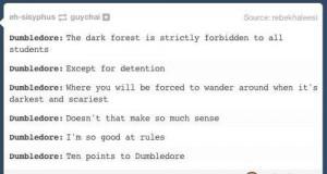 Dumbledore i logika Hogwartu