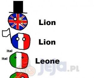 """""""Lew"""" w różnych językach"""