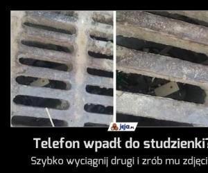 Telefon wpadł do studzienki?