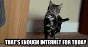 Dość internetu na dzisiaj