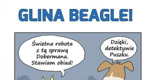 Glina Beagle w restauracji