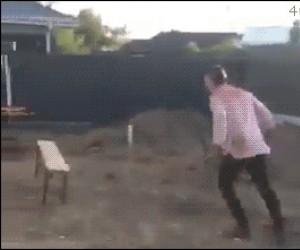 Nieudana sztuczka z ławką