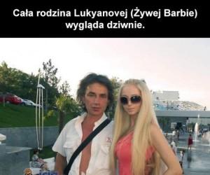 Rodzina żywej Barbie