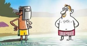 Janusz na plaży