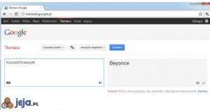 Krzysztof Krawczyk jako Beyonce w Tłumaczu Google