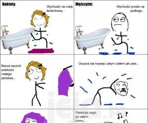 Kąpiel wg kobiet i mężczyzn
