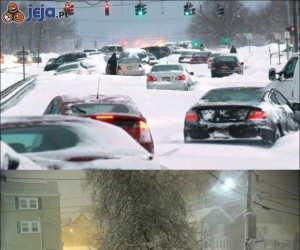 Atak zimy w USA