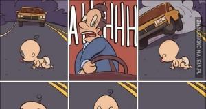 Uwaga dziecko na drodze!