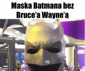 Maska Batmana bez Bruce'a Wayne'a